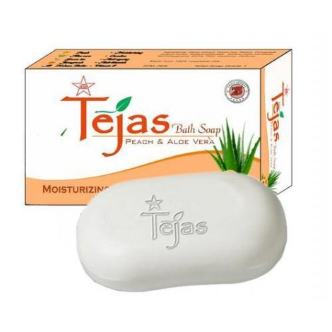 TEJAS PEACH AND ALOEVERA BATH SOAP - 75gm